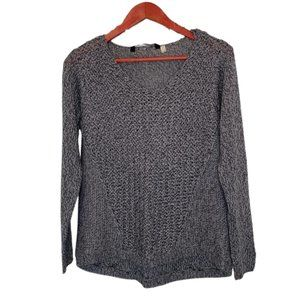 Seven Sisters Size Small Gray and Black Sweater